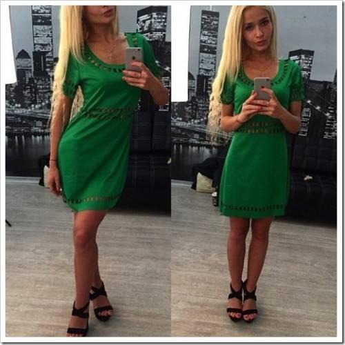 Зелёные и розовые платья