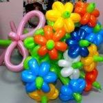 Как сделать букет из воздушных шаров