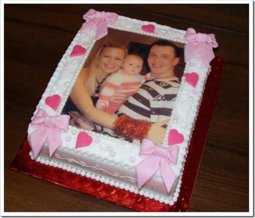 Два вида печати изображения на тортах