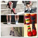 С чем носить цветные женские носки