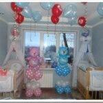 Как украсить комнату воздушными шарами