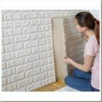 Самоклеющиеся панели 3D для стен — описание и монтаж