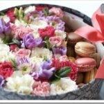 Как собрать букет цветов в коробке