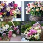 Как сделать и красиво оформить цветочную корзину