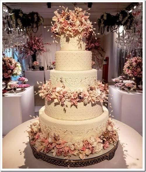 Типичные сочетания для свадебного торта
